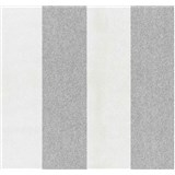 Vliesové tapety na stenu Casual Chic pruhy sivo-biele