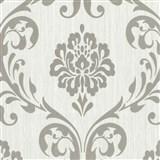 Vliesové tapety na stenu Classico zámocký vzor strieborný na svetlo sivom podklade