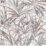Vliesové tapety na stenu IMPOL Code Nature listy sivo-hnedé na bielom podklade