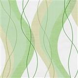 Vliesové tapety na stenu Modern Line vlnovky zelené