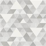 Vliesové tapety na stenu Collection geometrický vzor moderný sivý