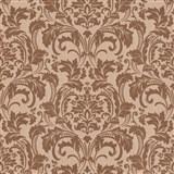 Luxusné vliesové tapety na stenu G.M.Kretschmer Deluxe zámocký vzor medený
