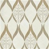 Luxusné vliesové tapety na stenu G.M.Kretschmer Deluxe kašmírový vzor zlato- krémový