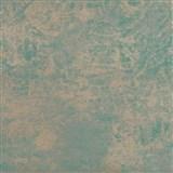 Tapety na stenu La Veneziana 2 - kovový vzhľad - strieborno-tyrkysový