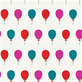 Tapety na stenu Die Maus farebné balóniky na bielom podklade