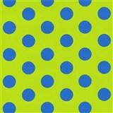 Tapety na stenu Die Maus bodky modré na zelenom podklade