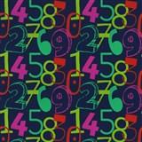 Tapety na stenu Die Maus farebné číslice na modrom podklade