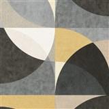 Vliesové tapety na stenu Elle Decoration geometrický vzor okrovo-sivý