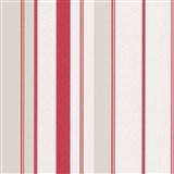 Vliesové tapety na stenu IMPOL Wall We Love pruhy štruktúrované červeno-sivo-biele