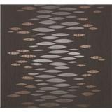 Vliesové tapety Estelle abstrakt metalický bronzový na hnedom podklade