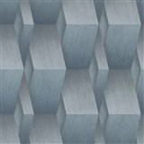 Vliesové tapety na stenu G.M.K. Fashion for walls 3D hrany sivo-modré