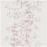 Vliesové tapety na stenu G.M.K. Fashion for walls popínavé lístky ružové na krémovom podklade