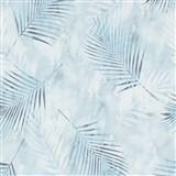 Vliesové tapety na stenu G.M.K. Fashion for walls palmové listy modro-biele na modrom podklade