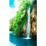 Vliesové fototapety vodopád v skalách rozmer 150 cm x 250 cm