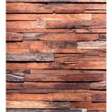 Vliesové fototapety drevená stena rozmer 225 cm x 250 cm