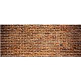 Vliesové fototapety tehlová stena rozmer 375 cm x 150 cm