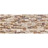 Vliesové fototapety kamenná stena rozmer 375 cm x 150 cm