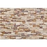 Vliesové fototapety kamenná stena rozmer 375 cm x 250 cm