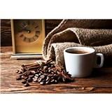 Vliesové fototapety hrnček s kávou rozmer 375 cm x 250 cm