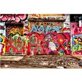 Vliesové fototapety graffiti ulica rozmer 375 cm x 250 cm