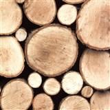 Samolepiace tapety drevené polená, metráž, šírka 67,5 cm, návin 15m,