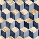 Samolepiace fólie skladané kocky modro-hnedé - 45 cm x 15 m