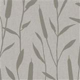 Vliesové tapety na stenu IMPOL Giulia trstina strieborná na hnedom podklade
