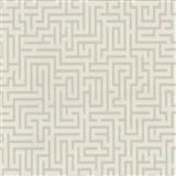 Vliesové tapety na stenu Graphics Alive - Labyrint svetlo hnedý