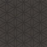 Vliesové tapety na stenu Graphics Alive - geometrické kvety čokoládovo hnedé