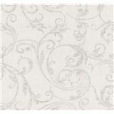 Tapety na stenu Graziosa ornament hnedý na krémovom podklade