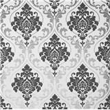 Papierové tapety na stenu zámocký vzor sivý