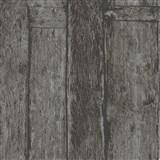 Vliesové tapety na stenu Imagine drevený obklad čierno-hnedý s výraznou štruktúrou