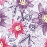 Vliesové tapety na stenu G. M. Kretschmer II kvety fialové a ružové
