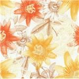 Vliesové tapety na stenu G. M. Kretschmer II kvety žlté, oranžové, hnedé