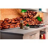 Samolepiace tapety za kuchynskú linku kávové zrnká rozmer 180 cm x 60 cm