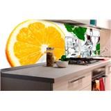 Samolepiace tapety za kuchynskú linku citrón a ľad rozmer 180 cm x 60 cm