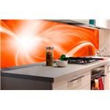 Samolepiace tapety za kuchynskú linku abstrakt oranžový rozmer 180 cm x 60 cm
