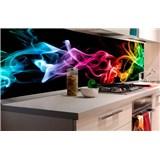Samolepiace tapety za kuchynskú linku dym čierny rozmer 180 cm x 60 cm