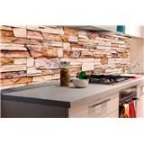 Samolepiace tapety za kuchynskú linku kamenná stena rozmer 180 cm x 60 cm