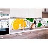 Samolepiace tapety za kuchynskú linku citrón a ľad rozmer 260 cm x 60 cm
