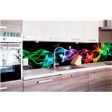 Samolepiace tapety za kuchynskú linku dym čierny rozmer 260 cm x 60 cm