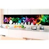 Samolepiace tapety za kuchynskú linku dym čierny rozmer 350 cm x 60 cm