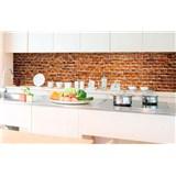 Samolepiace tapety za kuchynskú linku staré tehly rozmer 350 cm x 60 cm