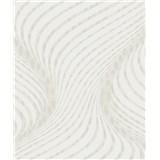 Tapety na stenu La Veneziana 3 skrutkovice bielo-hnedá