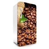 Samolepiace tapety na chladničku kávové zrnká rozmer 120 cm x 65 cm