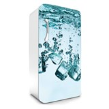Samolepiace tapety na chladničku kocky ľadu rozmer 120 cm x 65 cm