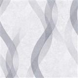 Vliesové tapety na stenu LIVIO vlnovky sivo-strieborné na sivom podklade POSLEDNÉ KUSY