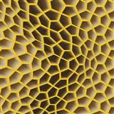 Vliesové tapety na stenu Harmony in Motion by Mac Stopa 3D plástu hnedo-oranžové