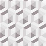 Vliesové tapety na stenu IMPOL Marbella 3D hexagon hnedý