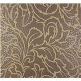 Vliesové tapety na stenu Messina listy zlato-hnedé